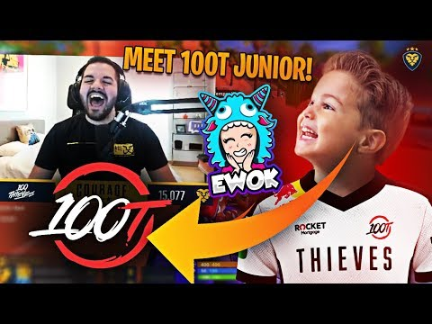 CONNOR AND EWOK JOIN THE 100 THIEVES JUNIOR SQUAD?! (Fortnite: Battle Royale)