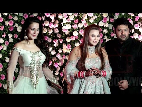 Beautiful Ameesha Patel At Kapil Sharma-Ginni Wedding Reception | #WeddingParty