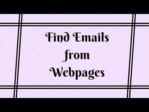 How To Find Emails From Almost Any Websites