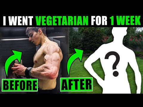 I went VEGETARIAN for a WEEK, here's what happened... (Vegetarian Bodybuilding)