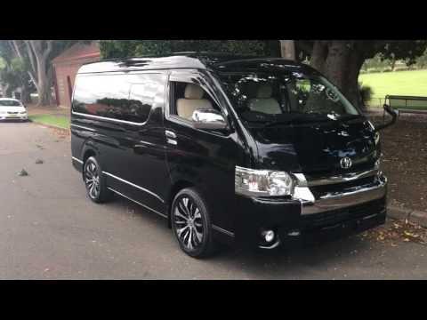 2015 Toyota Hiace Black GL VIP Luxury Low ROof version For Sale @ www.SunRIseCars.com.au