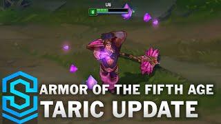Armor of the Fifth Age Taric (2016) Skin Spotlight - Pre-Release - League of Legends