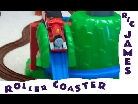 Remote Control r/c JAMES on a Roller Coaster Thomas The Tank Engine Kids Toy Train Set Tomy