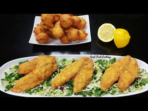 Fried Fish And Hush Puppies Recipe - #SoulFoodSunday