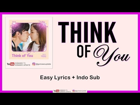 HA SUNG WOON - THINK OF YOU (OST. Her Private Life) Easy Lyrics By GOMAWO [Indo Sub]