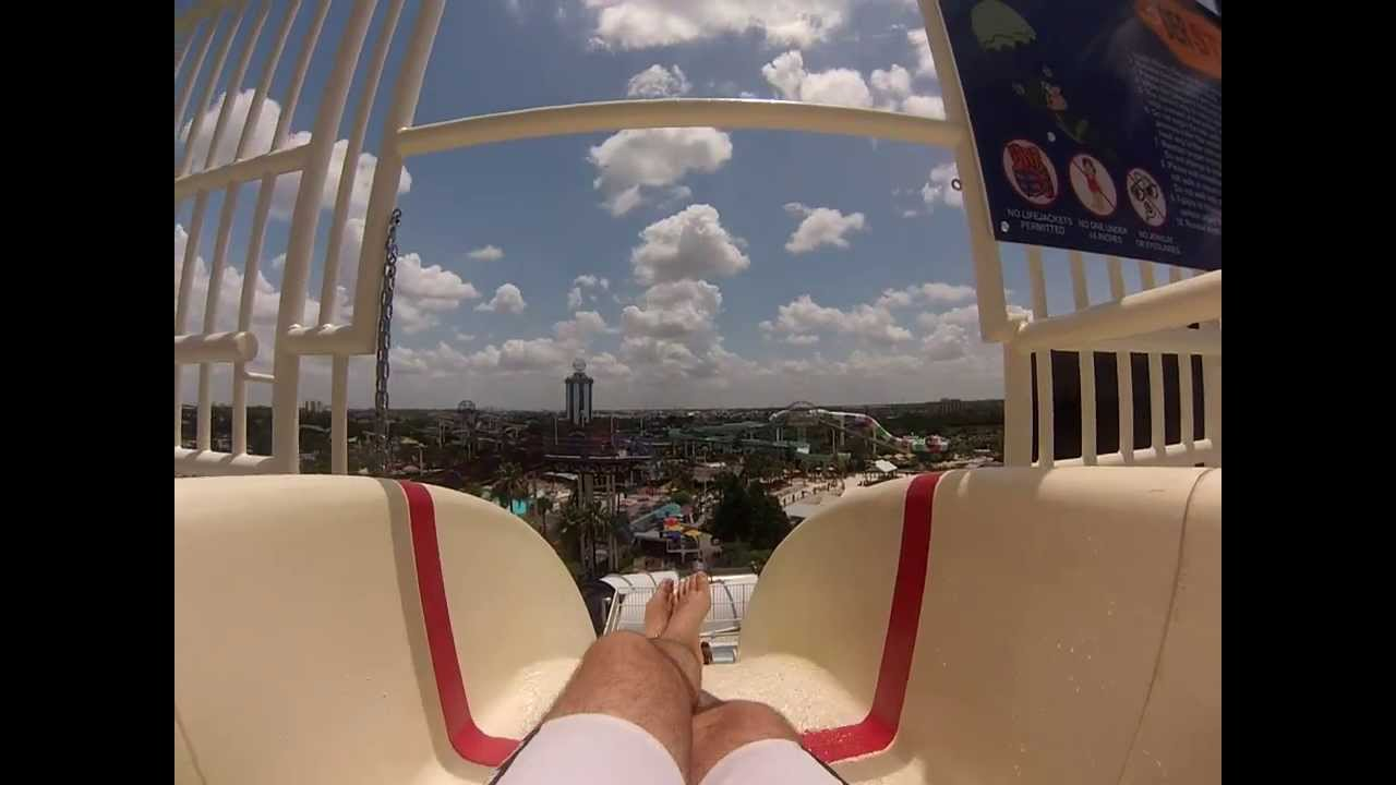 GoPro Point of View at Wet 'N Wild Orlando Slide Der Stuka