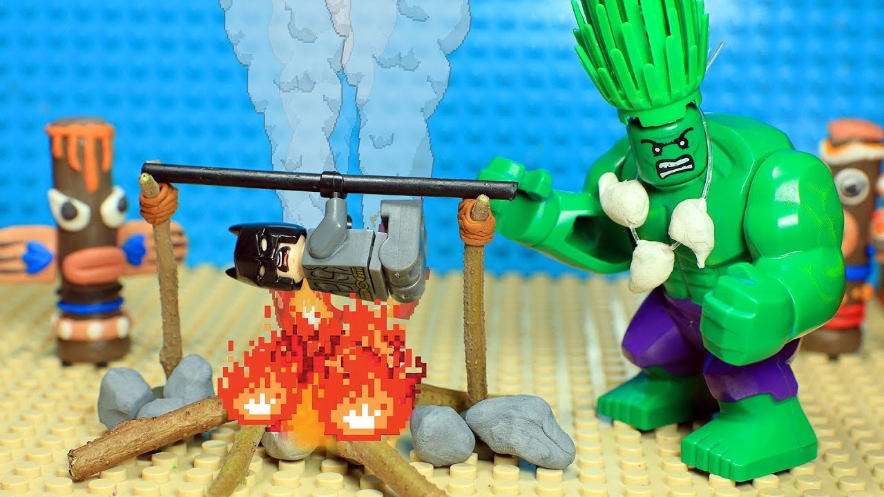 Lego Batman And Hulk Jungle Ritual Youtube