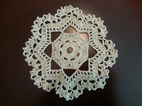 Free Crochet Patterns For Mini Doilies : Crochet Mini Doily - Octagonal Pattern - YouTube