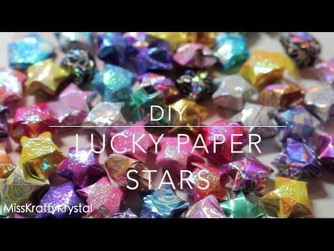 ★DIY Lucky Paper Stars!★