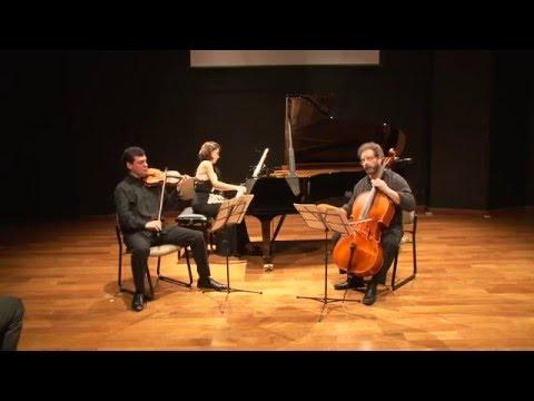 Ana Flávia Frazão, José Maria Blumenschein e Dennis Parker: R.Schumann: Piano Trio op.80