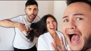 Emrah schneidet Shanti's Haare Friseur Reagiert Live