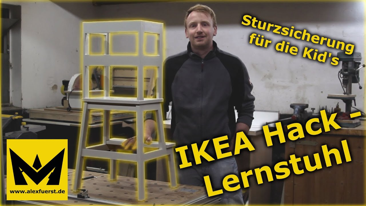 projekte ikea hack lernstuhl youtube. Black Bedroom Furniture Sets. Home Design Ideas