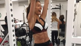 Melanie Sykes proudly shows impressively toned stomach completes challenging workout