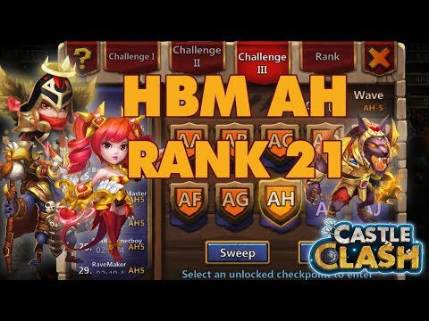 HBM Wave AH 5 Without Skeletica | Rank 21 Android Server | Castle Clash