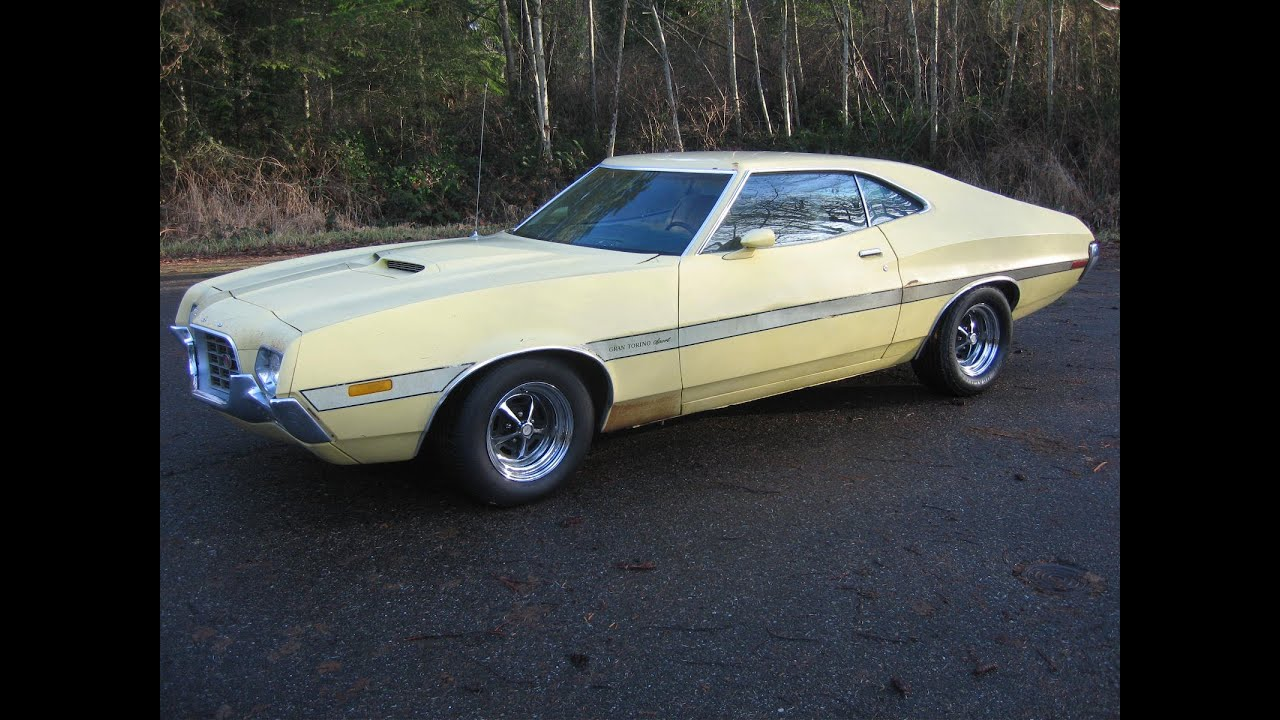 1972 Gran Torino Sport yellow with laser stripes for sale