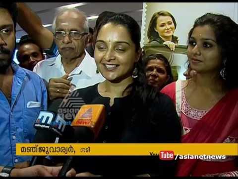 Manju Warrier celebrating  C/O Saira Banu's success with audience