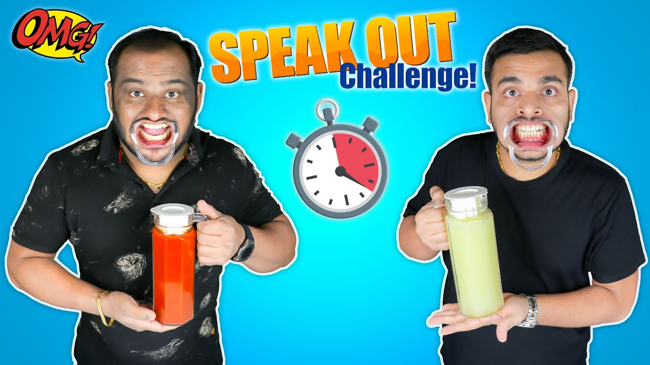 SPEAK OUT CHALLENGE | Speak Out Food Challenge | Try To Speak Challenge | Viwa Food World
