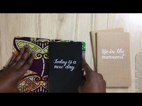 Leather Travel Journal with Ankara Fabric
