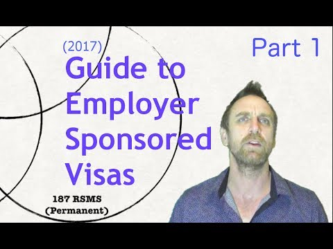 Sponsored Visas In Australia - Part 1