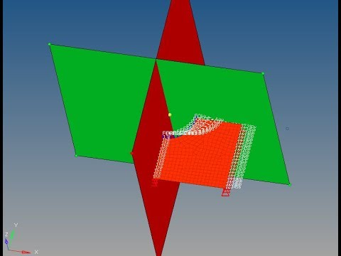 Symmetry to reduce processing time in Hyperworks