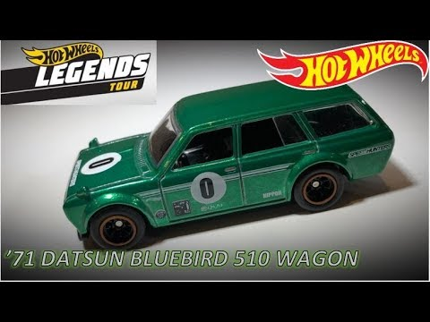 HOT WHEELS 2019 -Legends Tour Green Datsun Bluebird 510 Wagon- Jun Imai Tribute