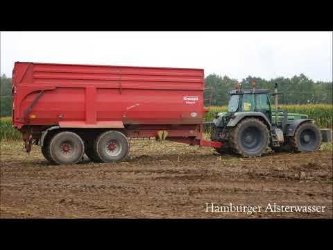 Fendt 818 Vrio bei der  Arbeit Maisernte 2017 Live Sound 4K Tractor Legends