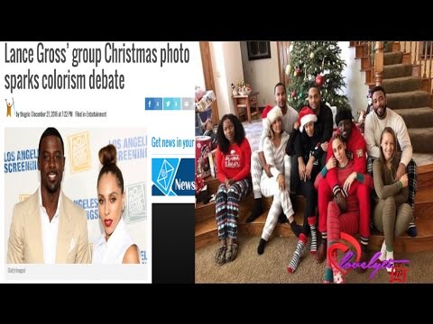 Lance Gross' group Christmas photo sparks colorism debate on Instagram