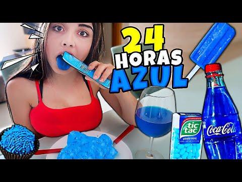 NAMORADA 24 HORAS só COMENDO COMIDA AZUL 🍧🍭