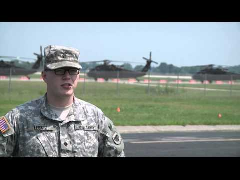 A Wisconsin Guard Soldier plays an important role as an Aviation Specialist