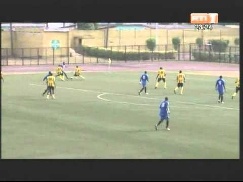 Football/ Ligue des champions (tour preliminaire) / AFAD-Diables noirs (1-0)