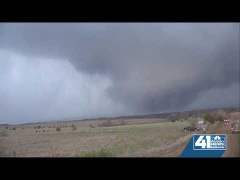 WATCH: Tornado touches down north of Salina, KS