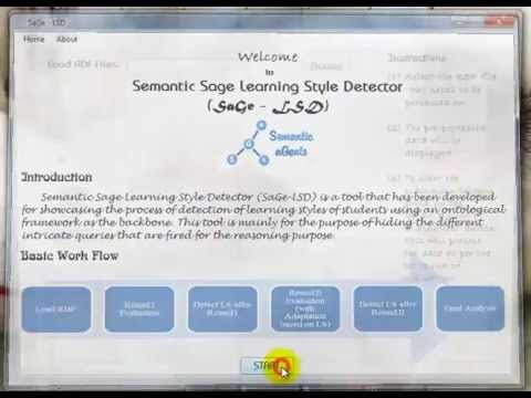 SaGe-LSD (Semantic Agent - Learning Style Detector)