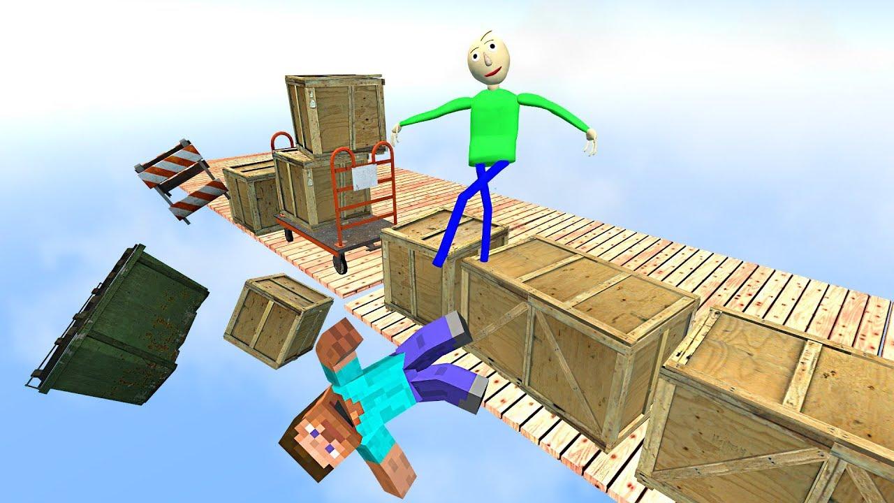 Garry's Mod Ragdolls ep.19 GMOD   Baldi's Basics   Minecraft - YouTube