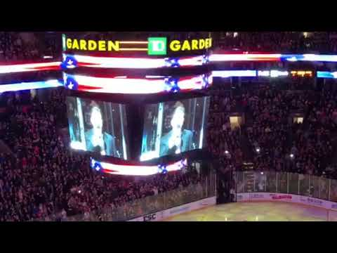Rene Rancourt's farewell anthem with Bruins, 4/8/18