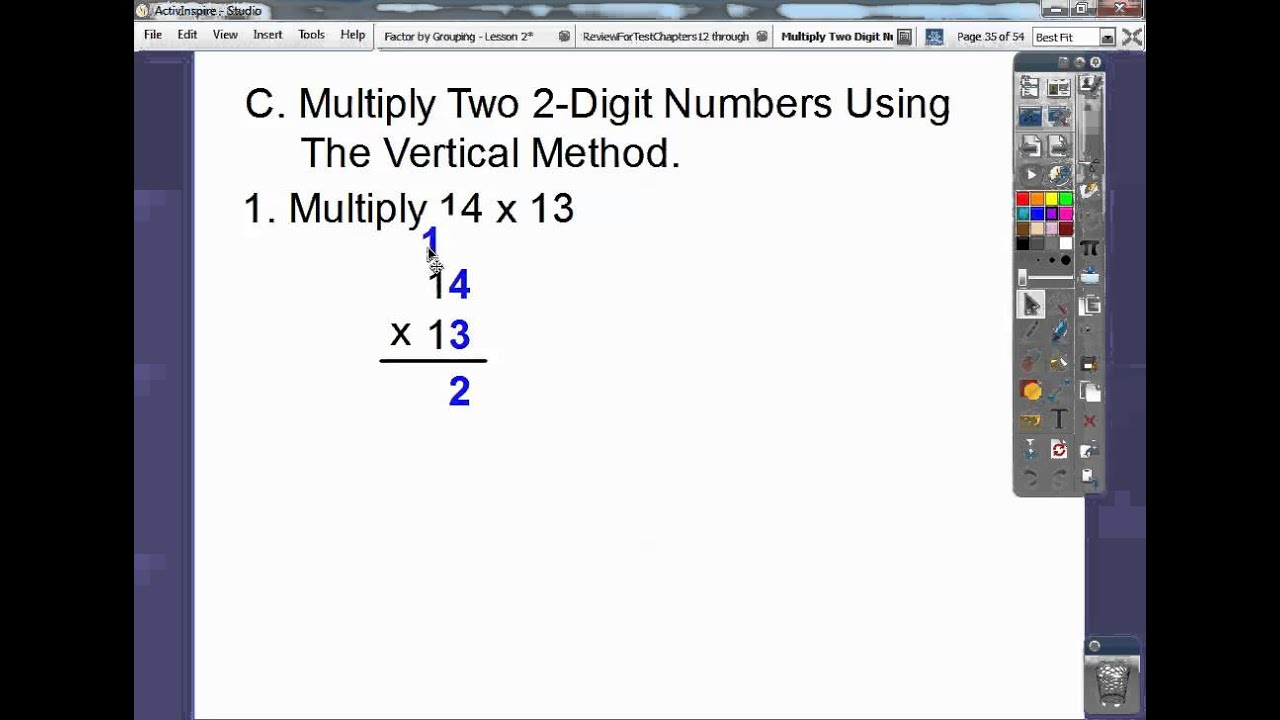Multiply 2 Digit Numbers with 2 Digit Numbers