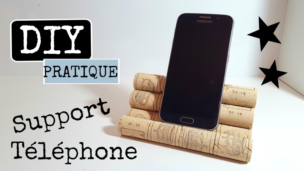 diy support de t l phone portable youtube. Black Bedroom Furniture Sets. Home Design Ideas