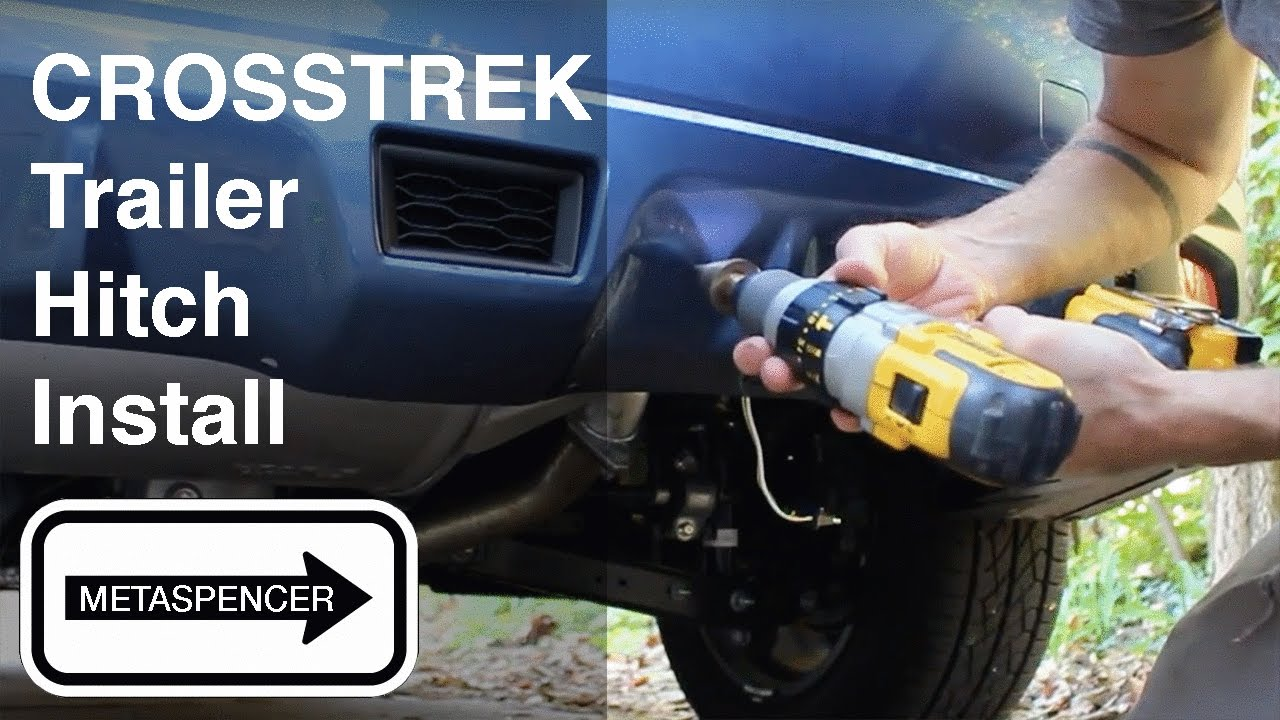 maxresdefault trailer hitch install on 2016 subaru xv crosstrek youtube  at gsmportal.co