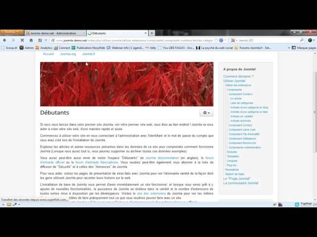 Joomla 3 - La création et la gestion des articles