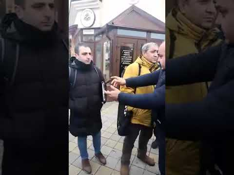 Армяне российского Армавира отчитывают азербайджанских журналистов как школьников (ВИДЕО))