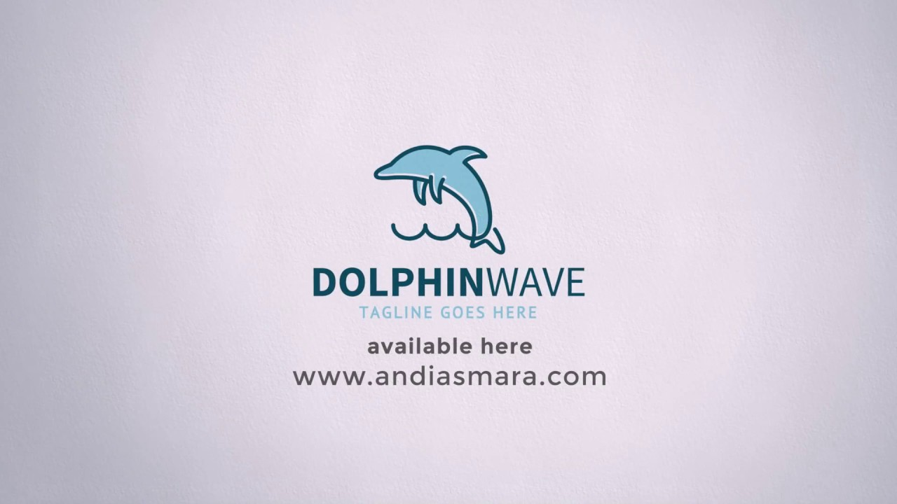 Dolphin Wave Logo Template - YouTube