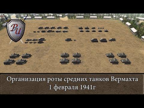 Структура роты средних танков Вермахта 1 февраля 1941г