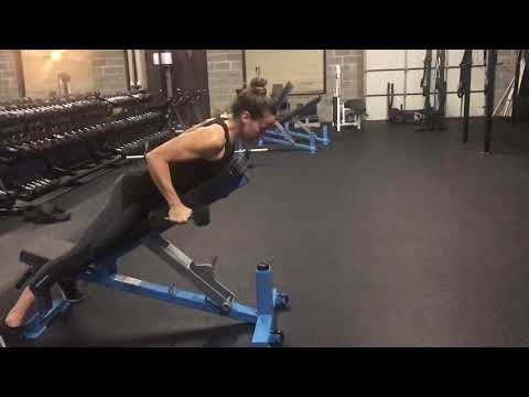 How To: Dumbbell Tricep Kickback On An Incline Bench