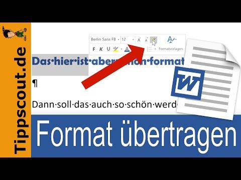 Format übertragen In Word