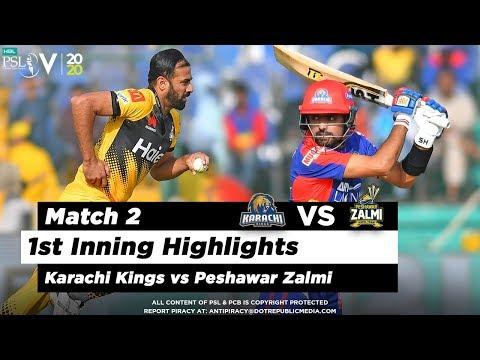 Karachi Kings Vs Peshawar Zalmi   1st Inning Highlights   Match 2   21 Feb 2020   HBL PSL 2020