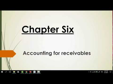 Chapter 6 Accounting for Receivables