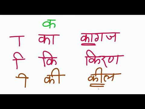 Hindi Matra Learning With Example UPDATED | हिन्दी के मात्रा सीखना