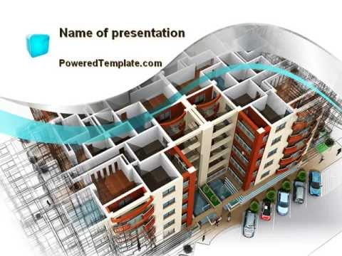 Model of apartment house powerpoint template by for Apartment design ppt