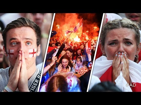 ENGLAND KNOCKED OUT OF WORLD CUP | Reactions and goal celebrations from Croatia 2-1 England