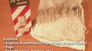 Dyeing Suede Shoes TUTORIAL!