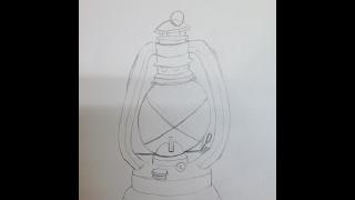 Draw an Oil Lantern